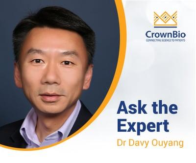 Dr Davy Ouyang, CrownBio, syngeneic model webinar Q&A