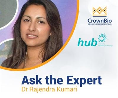 Dr Rajendra Kumari answers key questions around HUB Organoid Technology and tumor organoid models