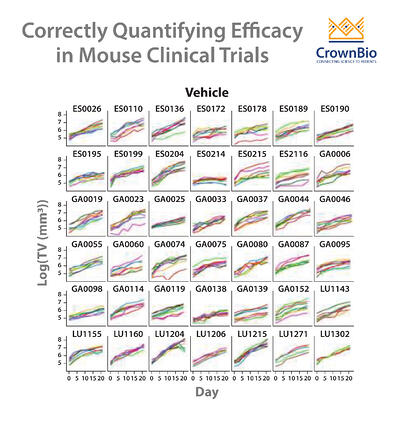 how to quantify drug efficacy and effects by LMM in mouse clinical trials