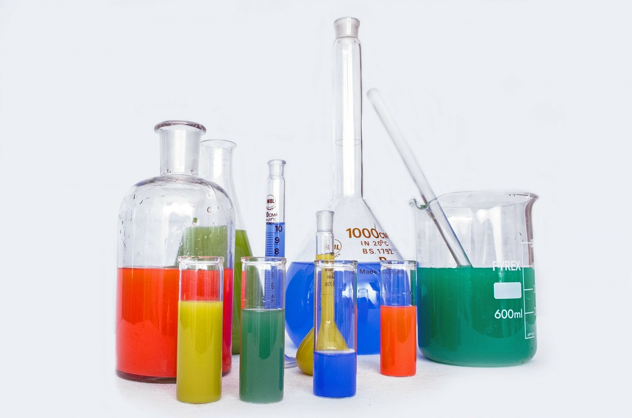 lab equipment for research with biochemicals