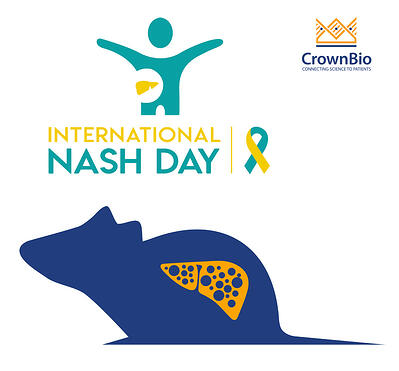 international NASH Day logo, representative nash preclinical mouse model graphic